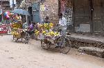 Commerçants dans les rues de Pokhara